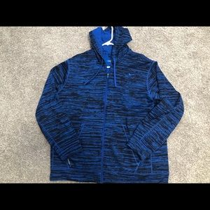 Men's XXL Therma-Fit Nike blue and black zip up